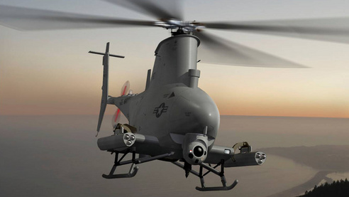 Northrop Grumman's MQ-8B Fire Scout unmanned aerial vehicle